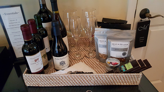 Milliken Creek Inn & Spa- Welcome Basket