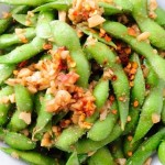 Garlic Edamame Recipe- make healthy eating easy with good for you snacks.
