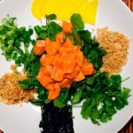 10 Minute Salmon Poke Salad- my version of this healthy dish will satisfy your Poke cravings and is perfect on its own or with rice.