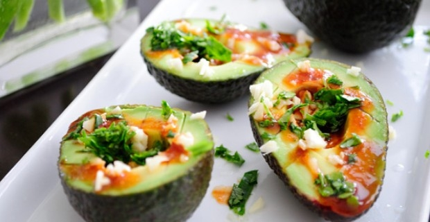 Spicy soy avocado appetizer for Asian cuisine appetizers