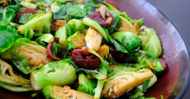 Brussels Sprouts with Lap Cheong