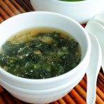 Classic Seaweed Soup with Miso- heart healthy soup for cold winter days.