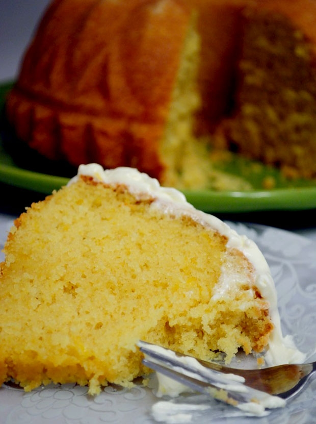 Lemon Bundt Cake With Mascarpone Frosting