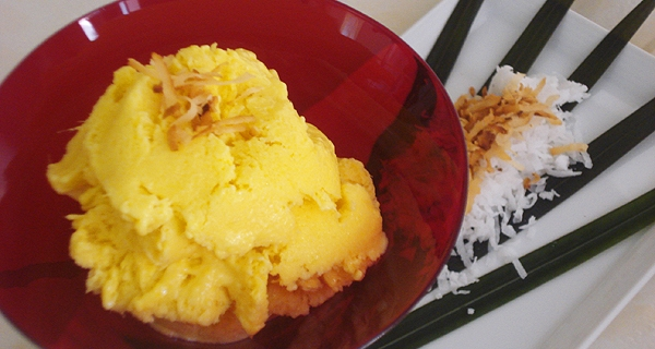 Easy ice cream recipes mango coconut ice cream mango coconut ice cream easy ice cream recipes like most other asian countries thailand integrates a lot of fruit into its national desserts forumfinder Image collections