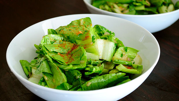 Raw Bok Choy Salad- one of the most delicious and healthiest salads you can make in under 5 minutes.