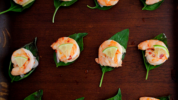 Basil Shrimp Bites- easy shrimp recipe with fresh, vibrant flavors great for parties.