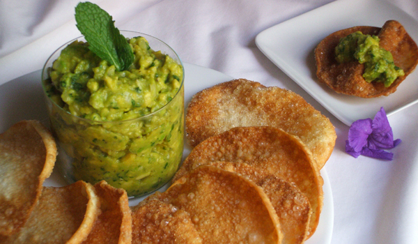 Asian Fusion Guacamole- a twist on an old favorite classic.