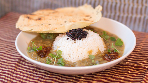 Mina Test Kitchen Review- The Company's spectacular Dal with Papadum.