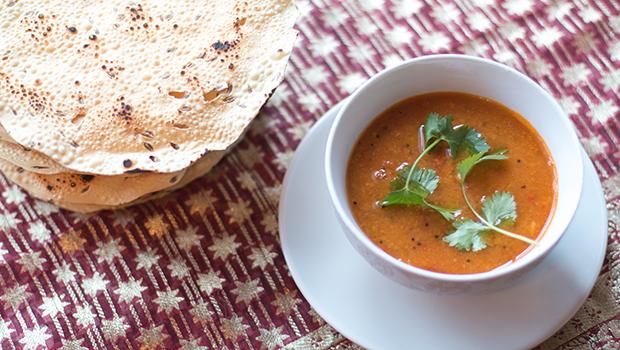 Mina Test Kitchen Review- The Company's Rasam with Papadum
