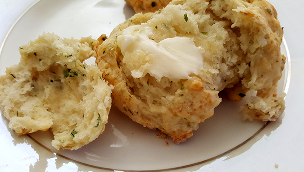 Buttery Herb Biscuits- the easiest biscuit recipe for perfect buttery, moist biscuits.