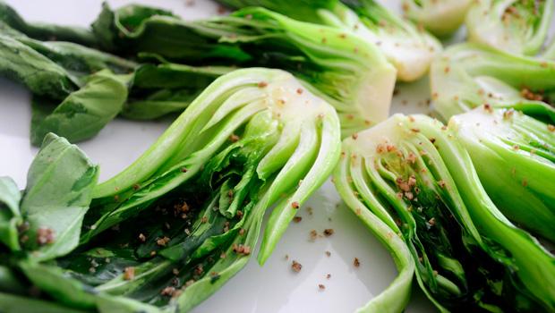 Easy Vegetable Recipes- Roasted Bok Choy with Szechuan Pepper Salt