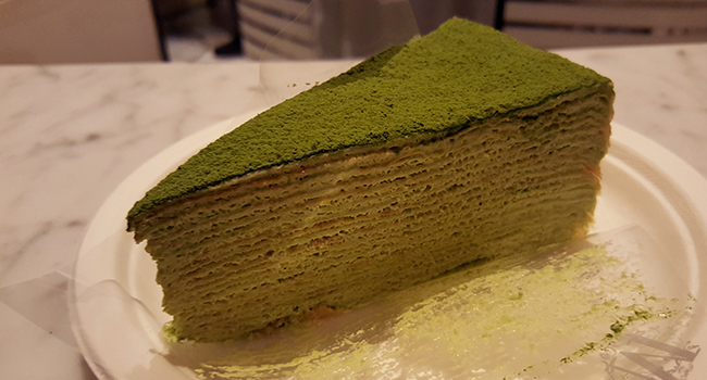 Best Mille Crepe in New York- Lady M's at The Plaza Food Hall