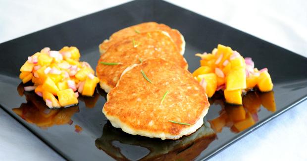 Quinoa Pancakes with Papaya Salsa- Healthy Breakfast Recipes