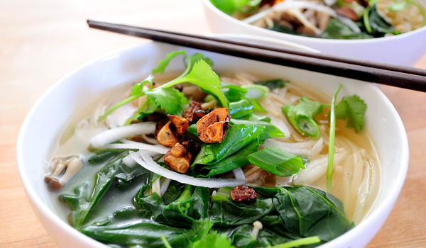 Veggie Pho- a delicate broth with fresh vegetables and all the goodness of traditional pho.