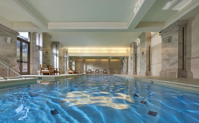Mandarin Oriental Atlanta- the best luxury hotel in Atlanta also has a beautiful heated indoor pool.