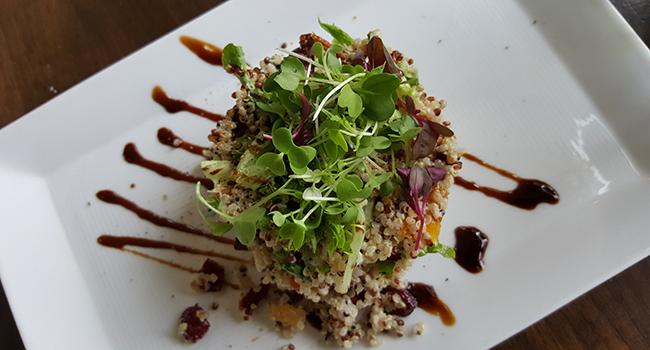 Quinoa and Vegetable Salad at The Cafe and Bar at Mandarin Oriental Atlanta.