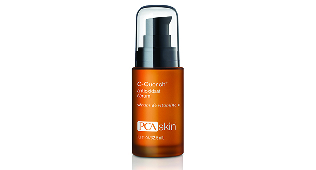 PCA Skin Vitamin C Quench Antioxidant Serum- a must have for morning skincare routines to help protect against annoying and potentially dangerous sun spots.