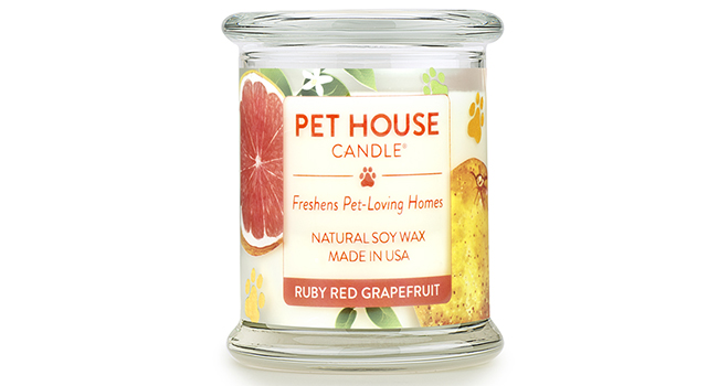 The MUST HAVE Candles for Pet Parents- One Fur All Candles is made from dye-free soy and essential oils. They completely neutralize the most stubborn pet odors and creates a lovely scent in your home.