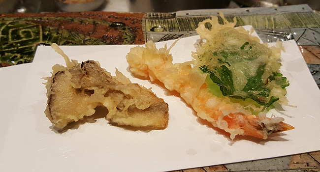 Tempura Matsui- the best tempura in New York also has housemade udon and soba as well as a divine Matcha custard.