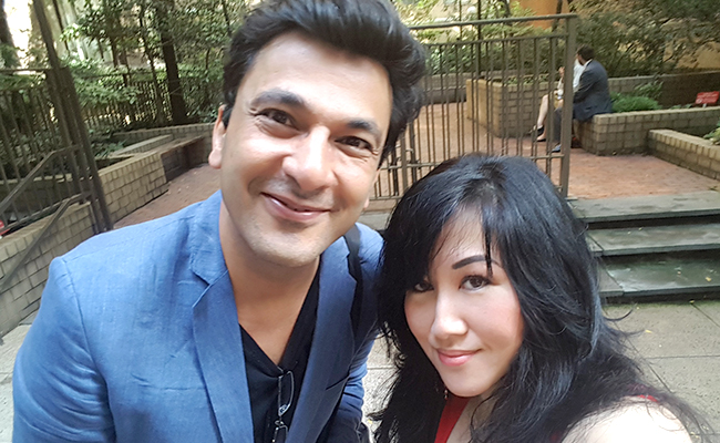 Vikas Khanna and Dina Yuen